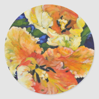Golden Tulips Classic Round Sticker