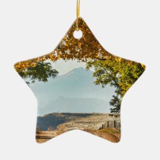 Golden Tunnel Of Love Ceramic Ornament