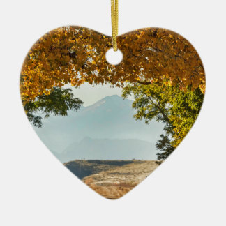 Golden Tunnel Of Love Ceramic Ornament