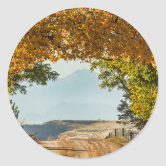 Golden Tunnel Of Love Classic Round Sticker