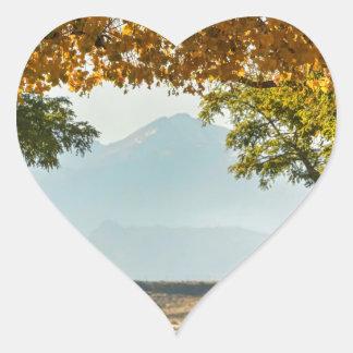 Golden Tunnel Of Love Heart Sticker