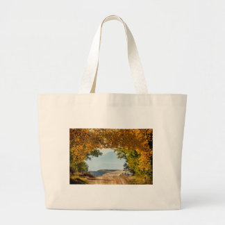 Golden Tunnel Of Love Large Tote Bag
