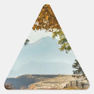 Golden Tunnel Of Love Triangle Sticker