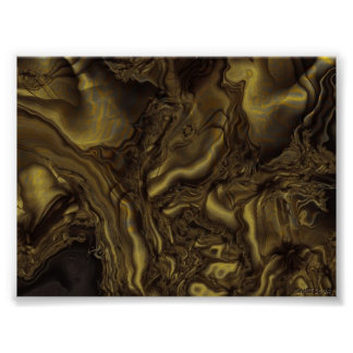 Golden Turbulence Poster
