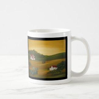 Golden Tuscan Landscape Coffee Mug