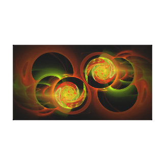 Golden Twin Spirals Stretched Canvas Print