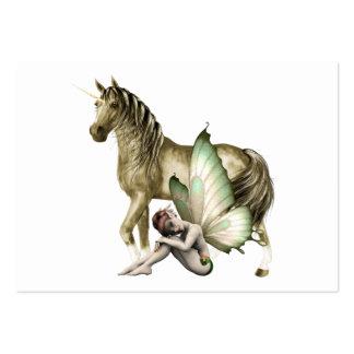 Golden Unicorn & Shy Fairy Mini Print Business Cards