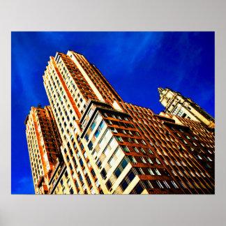 Golden Urban Building Thrust Poster
