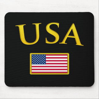 Golden USA Mouse Pad