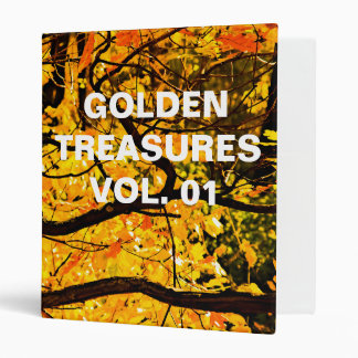 Golden Veins Of Autumn 3 Ring Binder