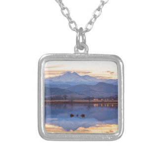 Golden View Silver Plated Necklace