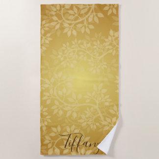 Golden Vine Personalize Beach Towel