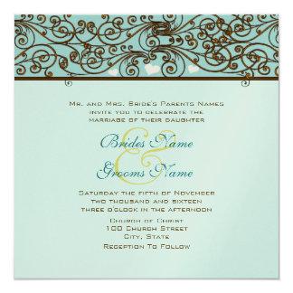 Golden Vintage Bronze Iron Work Wedding Invitation