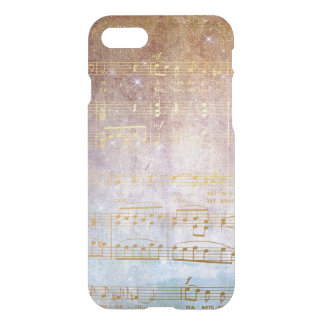 Golden Vintage Notes iPhone Clearly™ iPhone 7 Case