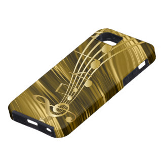 Golden violin key iPhone 5 cover