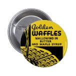 Golden Waffles Breakfast 2 Inch Round Button