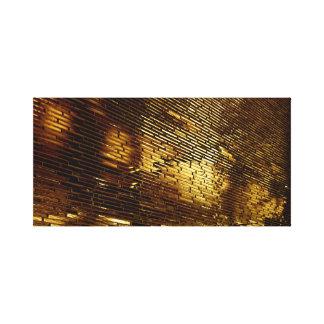 Golden Wall Canvas Print