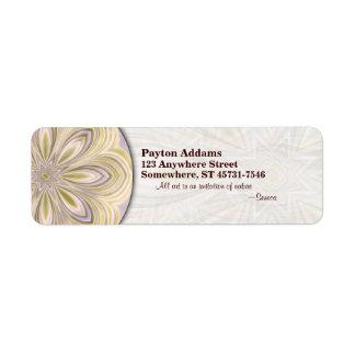 Golden Waning Mandala - Return Address Label