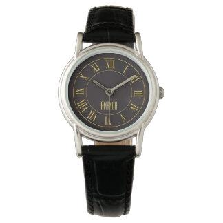 Golden Watch On A Dark Background Women's Watches
