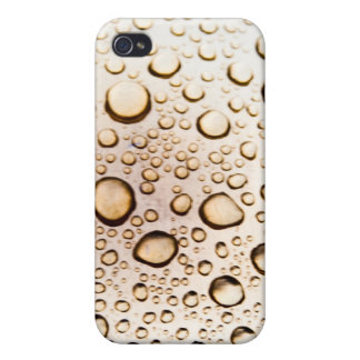 Golden water drops cover for iPhone 4