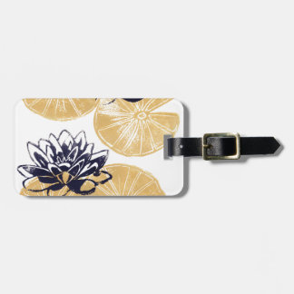 Golden Water lilies Luggage Tag
