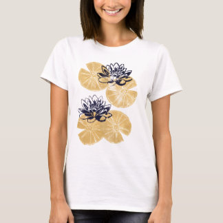 Golden Water lilies T-Shirt