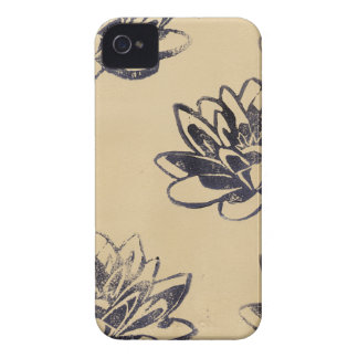 Golden Water Lilies two iPhone 4 Case-Mate Case