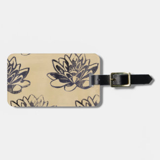 Golden Water Lilies two Luggage Tag