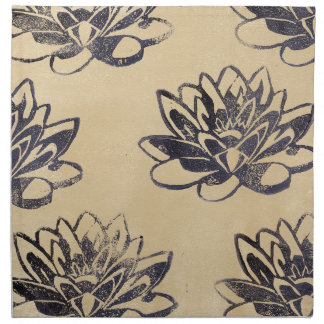 Golden Water Lilies two Napkin