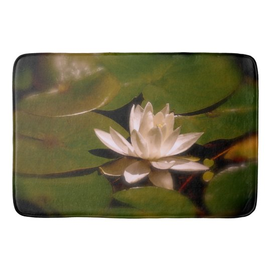 Golden Water Lily Bathroom Mat