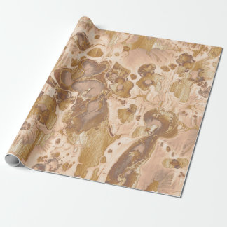 Golden water texture design, marbling paper, w wrapping paper