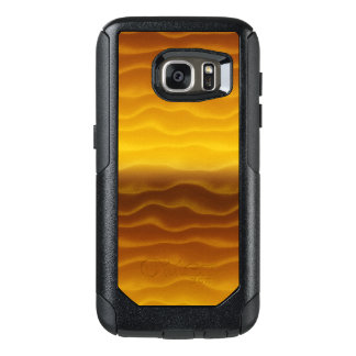 Golden Waves Abstract Pattern OtterBox Samsung Galaxy S7 Case