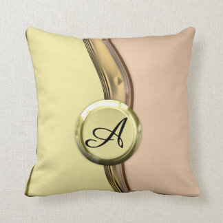 Golden Waves Throw Pillow