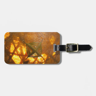 Golden Weave Luggage Tag