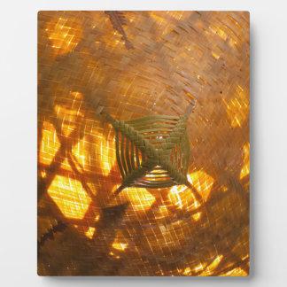 Golden Weave Plaque