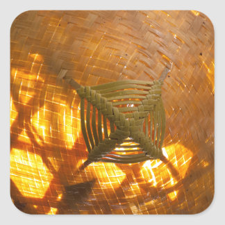 Golden Weave Square Sticker