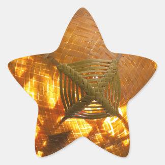 Golden Weave Star Sticker