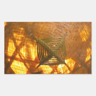 Golden Weave Sticker