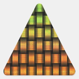 Golden Weave Triangle Sticker