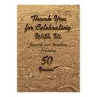 Golden Wedding 50th Anniversary Thank You Custom Card