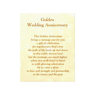 Golden Wedding Anniversary Canvas