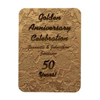 Golden Wedding Anniversary Celebration Magnet 50 Rectangular Photo Magnet