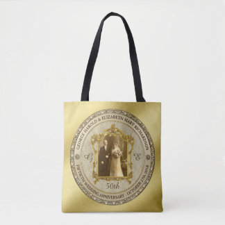 Golden Wedding Anniversary Classic Photo Frame Tote Bag