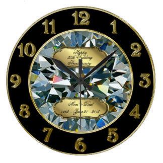 Golden Wedding Anniversary Clock