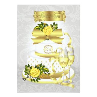 Golden Wedding Anniversary Invitation Papers