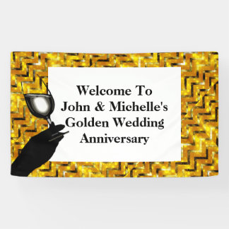 Golden wedding anniversary toast | Personalize Banner