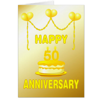 Golden Wedding Anniversay Greeting Card
