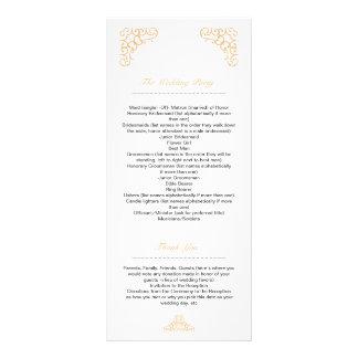 Golden Wedding Program Custom Rack Card