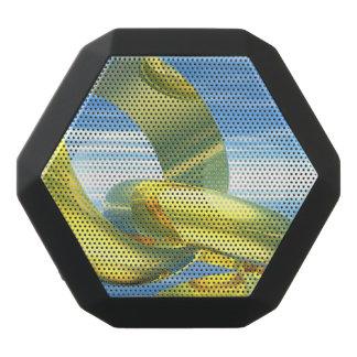 Golden wedding rings - 3D render Black Bluetooth Speaker