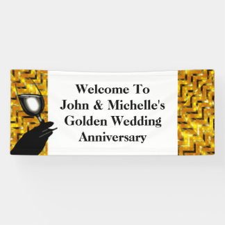 Golden wedding toast | Personalize Banner
